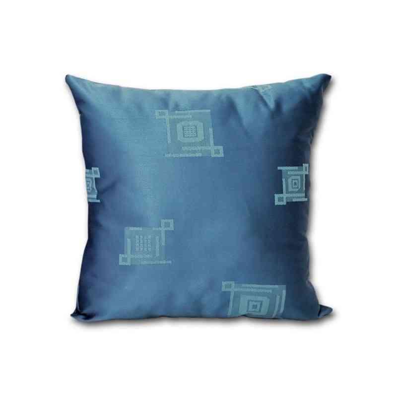 Perna decorativa Jaquard Model Patrate albastru