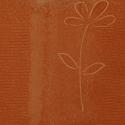 Perna decorativa Jaquard Model Floare caramiziu