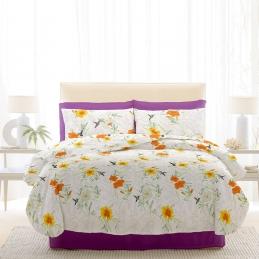 Lenjerie pat Renforce RIU Rosemallow-02 Iris Orchid