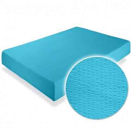 Cearceaf pat cu elastic Crepe Aquarius