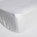 Cearceaf pat cu elastic Crepe Alb
