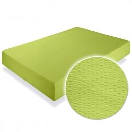 Cearceaf pat cu elastic Crepe Lime