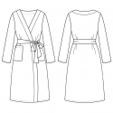 Halat baie kimono Frottier alb din bumbac
