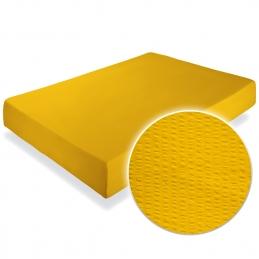 Cearceaf pat cu elastic Crepe Lemon Chrome