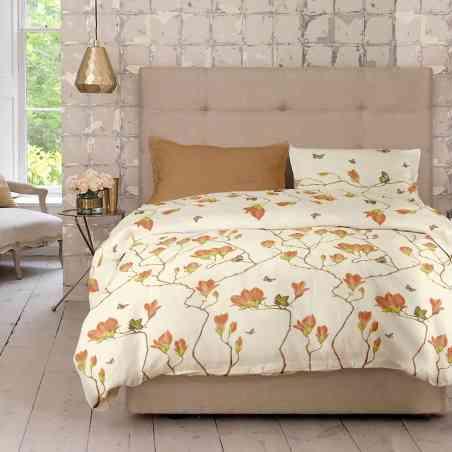 Lenjerie pat Renforce desen Magnolia v.2 Butterum