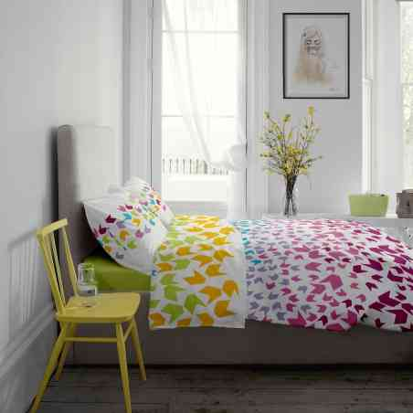 Lenjerie pat Renforce desen Loving Matisse v.1 Lime