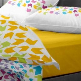 Lenjerie pat Renforce desen Loving Matisse v.1 Lemon Chrome