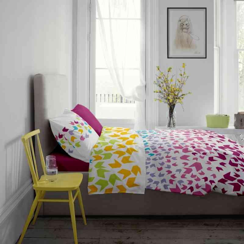 Lenjerie pat Renforce desen Loving Matisse v.1 Fuchsia Red