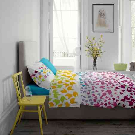 Lenjerie pat Renforce desen Loving Matisse v.1-Aquarius