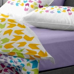 Lenjerie pat Renforce desen Loving Matisse v.1-Lila
