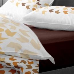 Lenjerie pat Renforce model Loving Matisse v.2+Moka