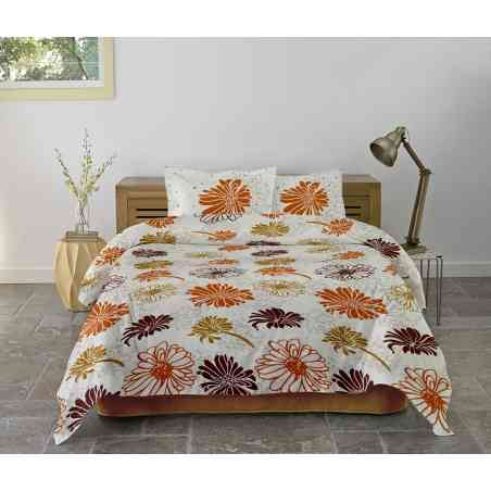 Lenjerie pat Cotton Rich desen Flores V.1