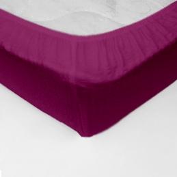 Cearceaf pat cu elastic Crepe Fuchsia-Red