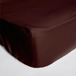 Cearceaf pat cu elastic Crepe Moka