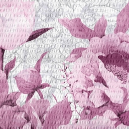 Lenjerie pat Crepe desen ROMANCE V1 (Fuchsia R, Iris O.)