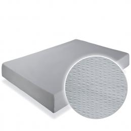 Cearceaf pat cu elastic Crepe Grey