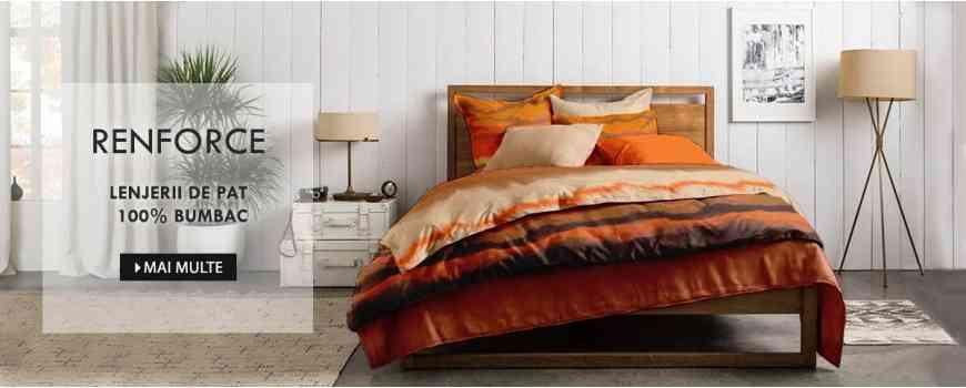 Lenjerii de pat Dormisete, imprimate din Renforce 100% bumbac