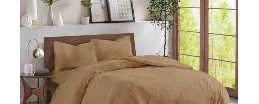 Lenjerii de pat uni color Renforce, crepe si satin, bumbac 100%, Dormisete