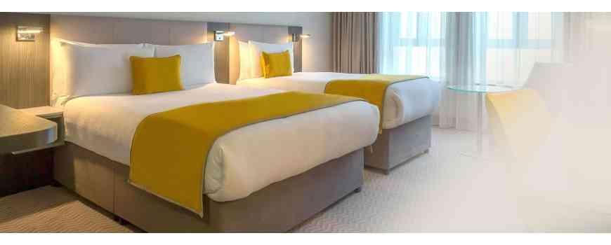 Lenjerii de pat albe din bumbac creponat Dormisete, care nu se calca.