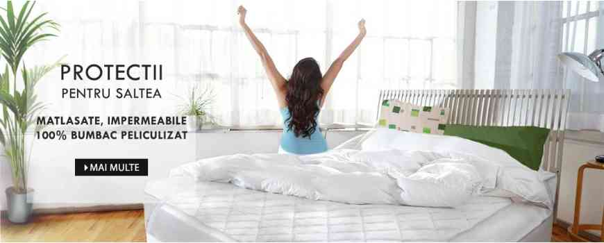 Husa Dormisete protectie saltele si perne, impermeabile, matlasate, 100% bumbac, Frottier, Soft touch