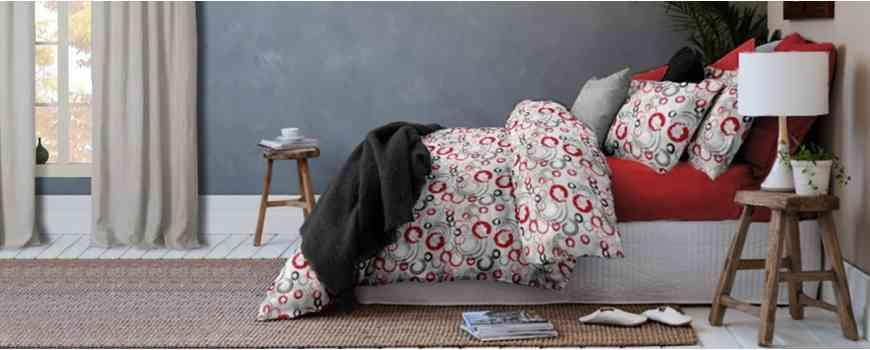 Lenjerii de pat din bumbac imprimat cu modele si culori uni, Dormisete