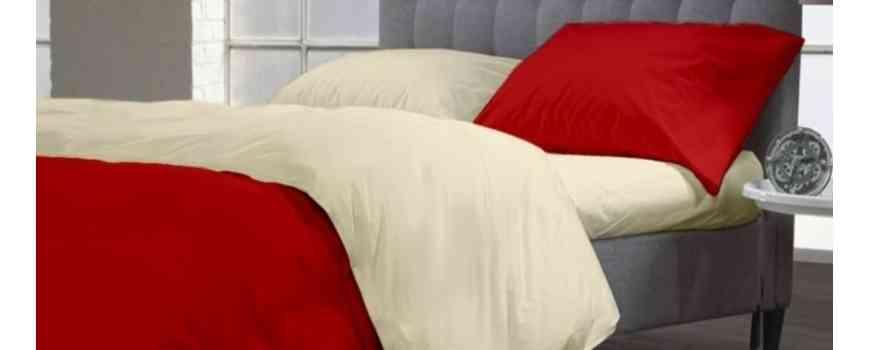 Lenjerii de pat unicolor din Satin 100% bumbac matasos, Dormisete